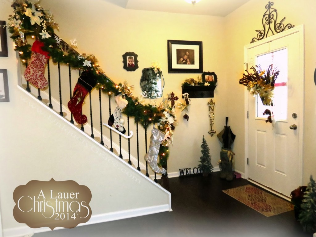A Lauer Christmas Home Tour - Oh, Holy Night - Entry way, Banister ...