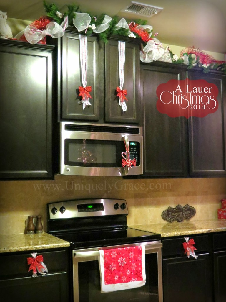 A lauer christmas home tour cardinals candy canes for Kitchen ideas for christmas