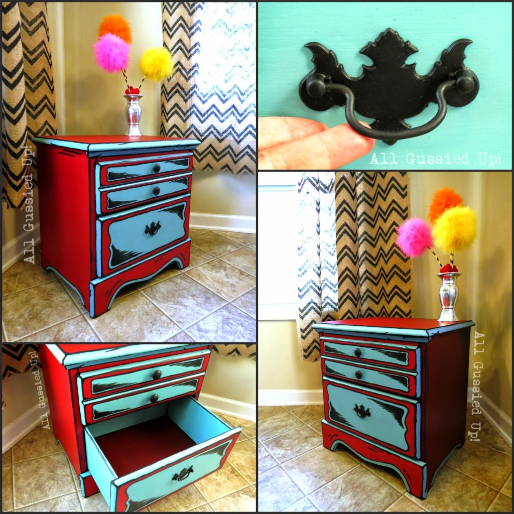 Beau Dr. Seuss Illustrations Inspired Night Stand And Table U2013 Hand Painted Chalk  Paint
