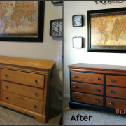 Before and After dresser makeover Shabby paints Hazelnut licorice revax grace lauer