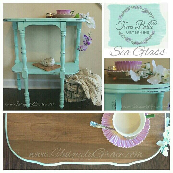 Sea glass terra bella paints finishes acrylic chalk paint non toxic VOC free collage uniquely grace
