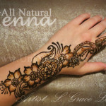 Henna Strip Hand flower finger wrist body art mehndi mehendi mehandi Columbia South Carolina L. Grace Lauer