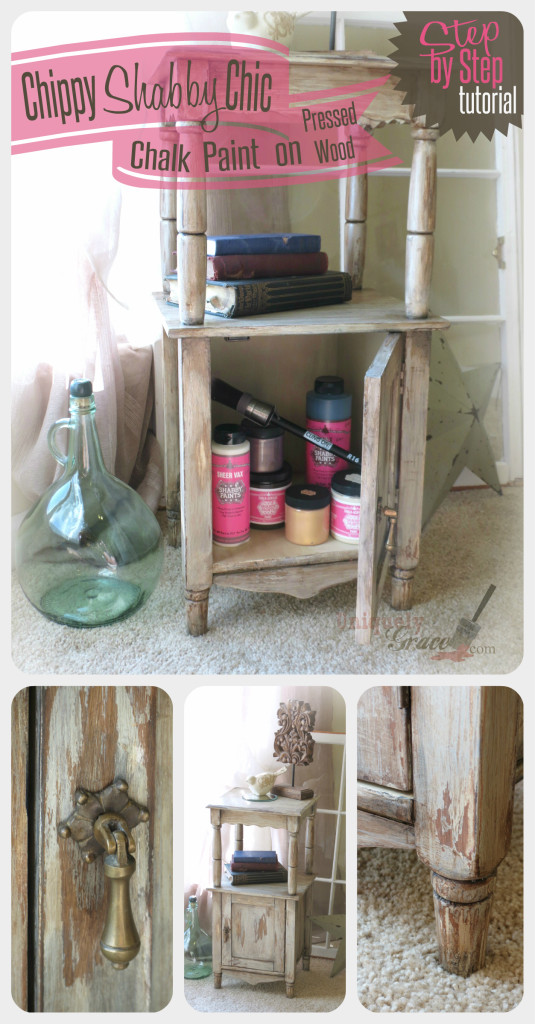 Shabby Paints chic pinterest cabinet shimmers chalk acrylic paint uniquely grace night stand end table