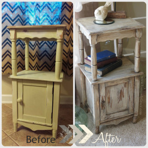 before after shabby chic paints cabinet table end night stand laminate pressed wood makeover fab furniture flippin contest uniquely grace