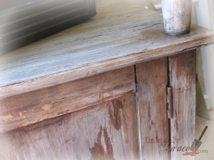 close up chippy distressed shabby chic paints uniquely grace furniture flip makeover shimmer