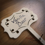 vanilla bear Chalk-Acrylic Paint painted sample wood sign Uniquely Grace