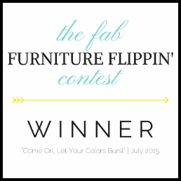 The Fab Furniture Flippin' Contest Winner - July 2015