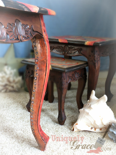 Is Acrylic Paint Toxic >> Three Nesting Tables and an Octopus