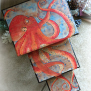 top view oscar the octopus nesting table makeover refinish uniquely grace chalk acrylic paints shabby stunning set