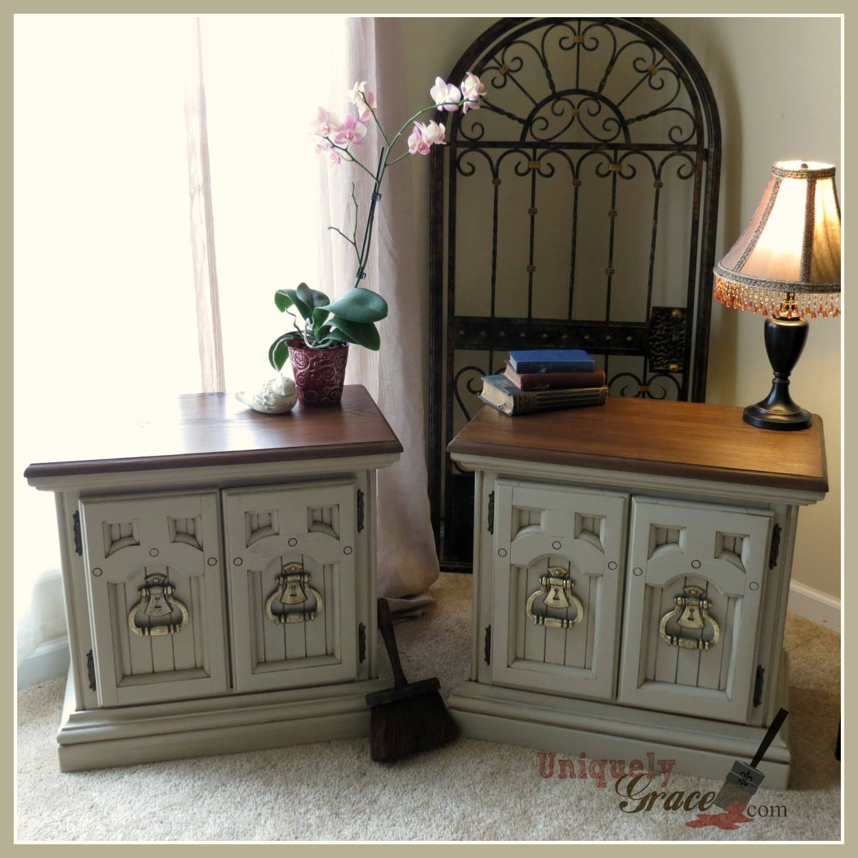 Nightstands Makeover Classy In Cali Taupe
