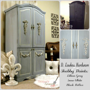 Antoinette Armoire Collage lillian grey black revax snow white shabby paints uniquely grace