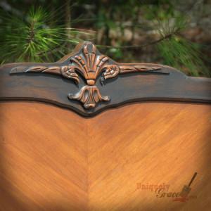 Renee full bed carving vintage headboard hazelnut black revax licorice chalk acrylic shabby paints uniquely grace