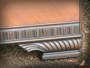 renee foot detailing vintage footboard hazelnut Revax balck licorice chalk paint shabby paints uniquely grace