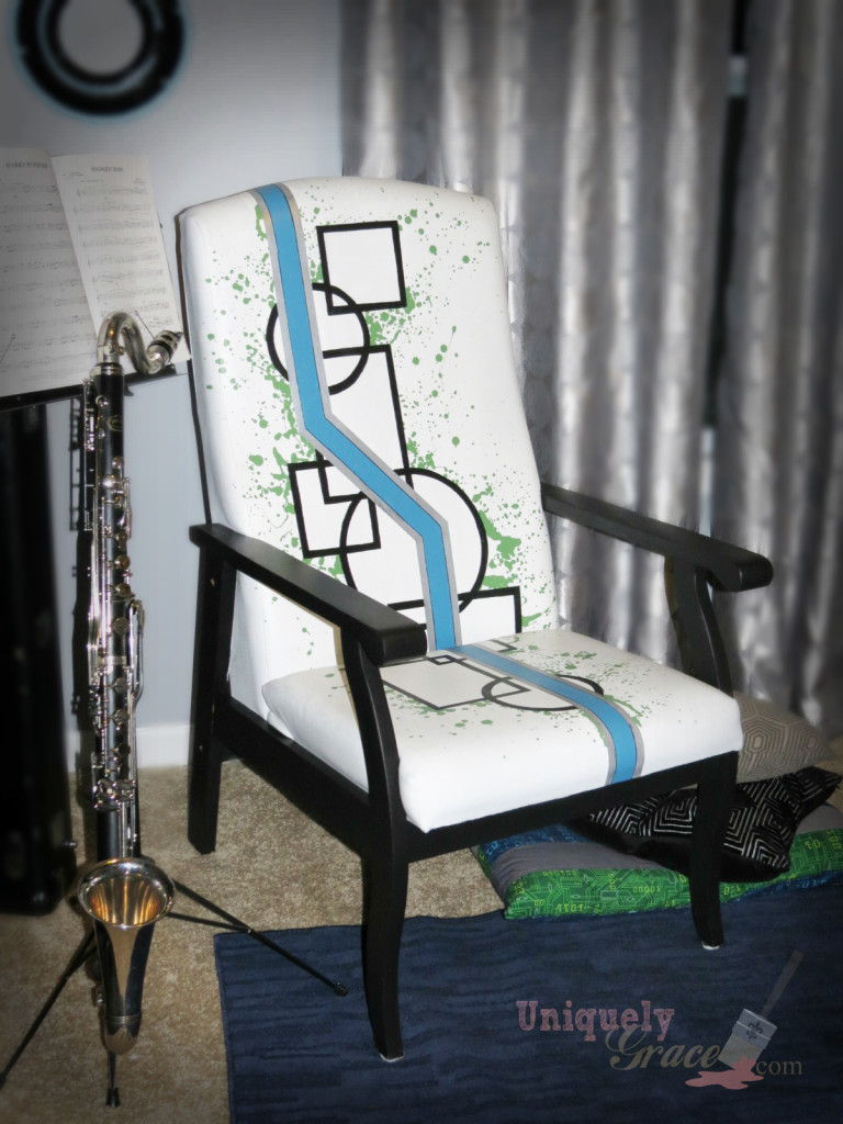 Geometric logo Fab Flippin Furniture Contest September entry Uniquely Grace