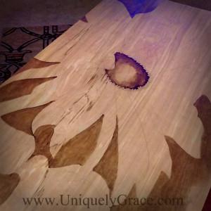 sunflower work in progress uniquely grace shabby paints gelato gel stain