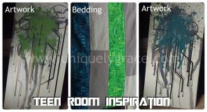 teen boy artwork bedding inspiration