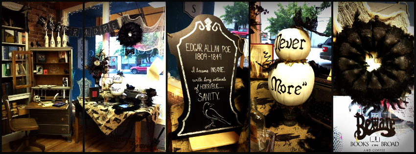 Edgar allan poe window display collage