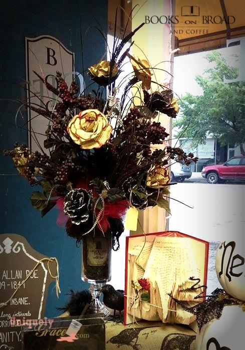Graceyard floral decor uniquely grace folded love book page art