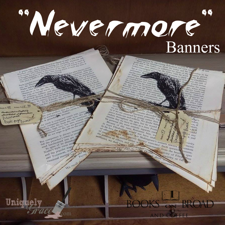 The Raven Nevermore banners book page uniquely grace