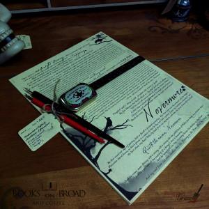 The Raven Nevermore edgar allen poe caligriphy set