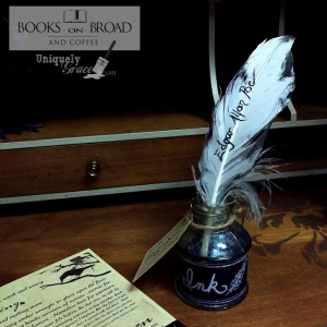 edgar allan poe ink well quill uniquely grace shabby paints