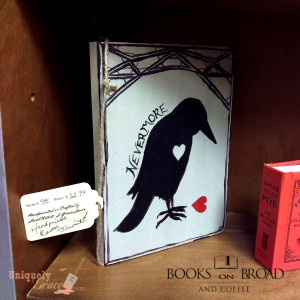 edgar allen poe nevermore journal handpainted uniquely grace shabby paints
