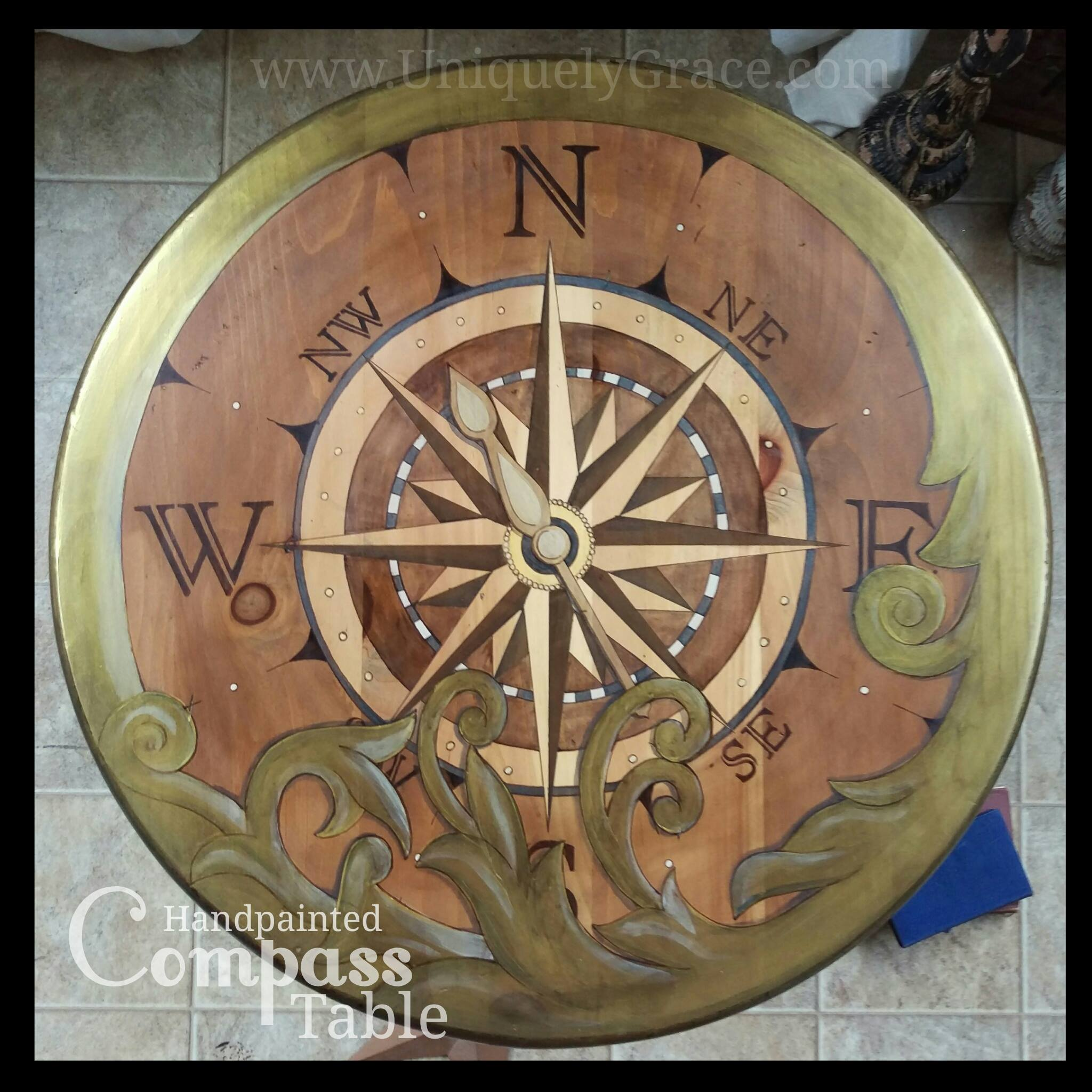 Project Furniture Compass Explore Uniquely Grace Shabby Paints Old Vibrant  Gold Smoked Pearl Vanilla Bear Chalk ...