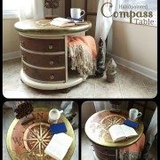 "Read book coffee tea Compass explore uniquely grace shabby paints old vibrant gold smoked pearl vanilla bear chalk shimmer drum library table solid wood furniture flip refinish  beautiful<span class=""wc-embed-price""><span class=""amount"">$560.00</span></span>"