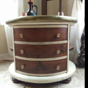 "door Compass explore uniquely grace shabby paints old vibrant gold smoked pearl vanilla bear chalk shimmer drum library table solid wood furniture flip refinish  beautiful one of a kind OOAK<span class=""wc-embed-price""><span class=""amount"">$560.00</span></span>"