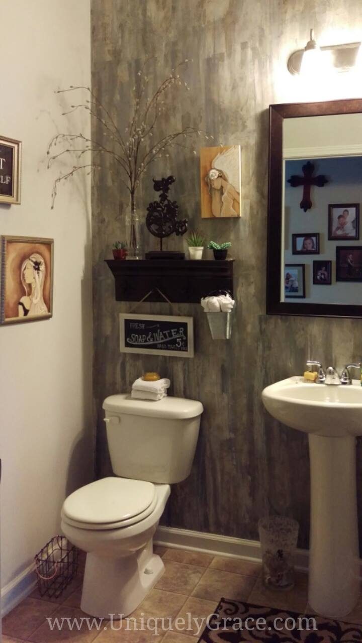 Paint Putty Knife Powder Room Makeover Uniquely Grace