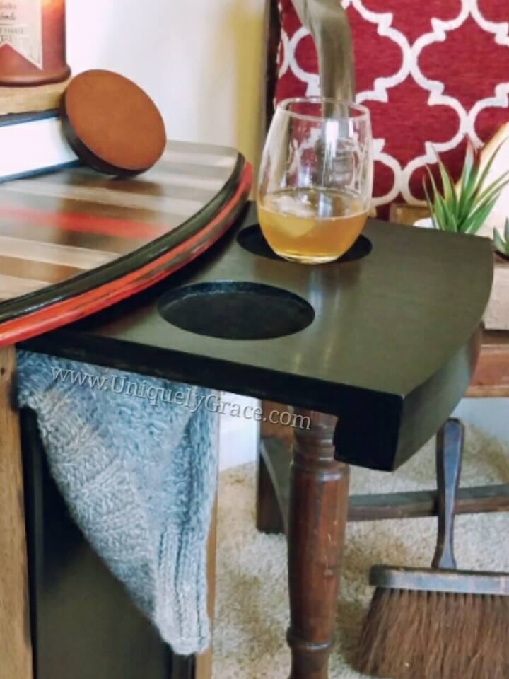 Thin Red Line Flag Magazine Table Uniquely Grace Designs