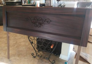 Faux Copper Patina Mahogany Headboard
