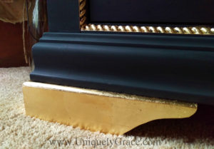 LOGO Close up gold leaf foot dresser pure original black truffle uniquely grace rope molding