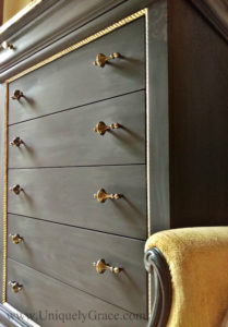 LOGO Drawer fronts pulls vintage pure original uniquely Grace rope molding gold leaf