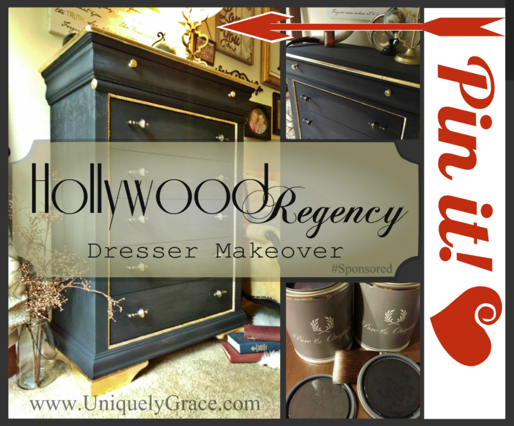 Pin it Hollywood regency Dresser makeover uniquely grace pure original chalk paint dresser makeover