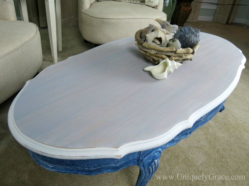 After blue top close up leg french provincial coffee table refinishing uniquely grace with logo