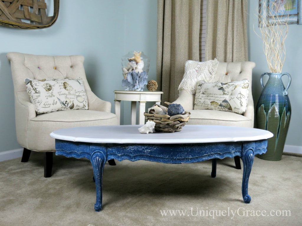 Coastal Inspired Coffee Table – The Fab Furniture Flippin' Contest