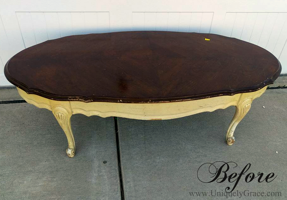 Before french provincial coffee table refinishing uniquely grace with logo